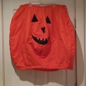 Orange Pumpkin costume, slip on, tie at neck
